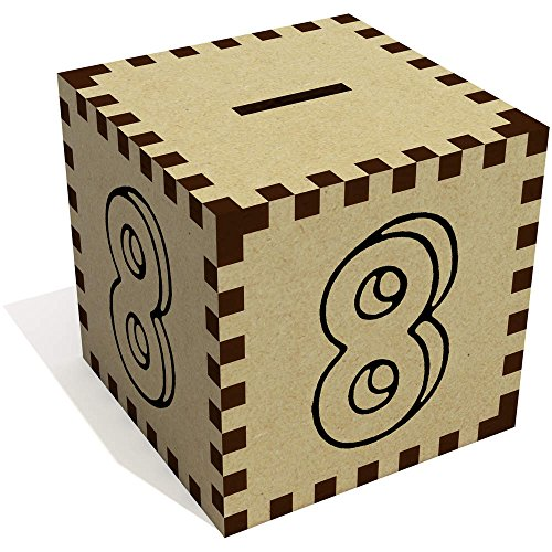 Azeeda 'Nummer 8' Sparbüchse / Spardose (MB00059639) -