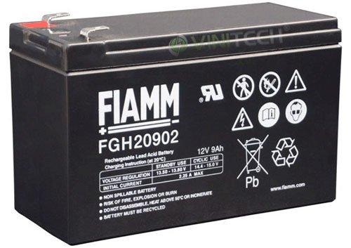 Batteria FIAMM adatto per piombo-batteria 12 V 9Ah un'altezza energia, FGH20902 Faston 6,3 mm