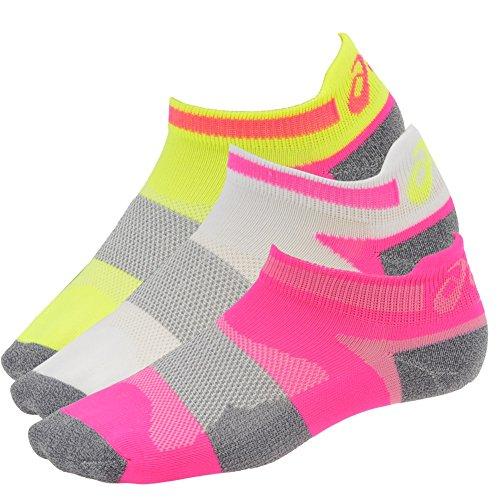 Kissen Tab Socke (ASICS Damen Schnelle Lyte Kissen Single Tab Gelbe Schleife Socken, Damen, Pink/Neon, Large)