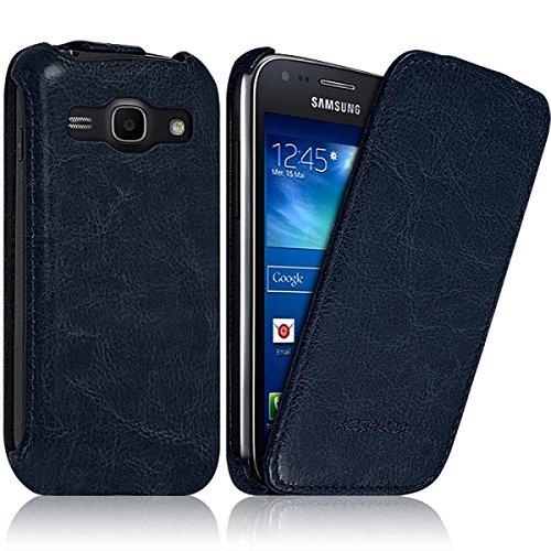 Seluxion - Housse Etui Coque Rigide à Clapet pour Samsung Galaxy Ace 3 Couleur Bleu + Film de Protection