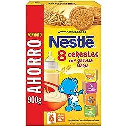 Nestlé - Papillas Alimento elaborado a base de cereales y Galleta María - 900 gr