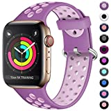 Maledan Kompatibel für Apple Watch Armband 38mm 40mm, Weiches Silikon Sportarmband Ersatz Armband...