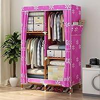 Comparador de precios Armario de almacenamiento portátil Armario de madera maciza, armario de dormitorio hogar Armario de almacenamiento de gabinete de paño impermeable armario de tela impermeable Oxford,A_100*46*160cm - precios baratos