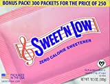 Sweet N Low Granulated Sugar Substitute Powder Packets, 250+50 ea by Sweet n low