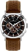 Reloj de caballero JACQUES LEMANS Lugano 1-1645C de cuarzo, correa de piel color marrón de Jacques Lemans