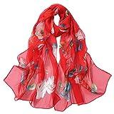 Mode Frauen Rosen Drucken Lange Weiche Wrap Schal Simulation Silk Schal Schals Seidentuch Baumwollschal Weben von Schals Bedrucken und Färben von Schals Handgemalter Schal Chenang
