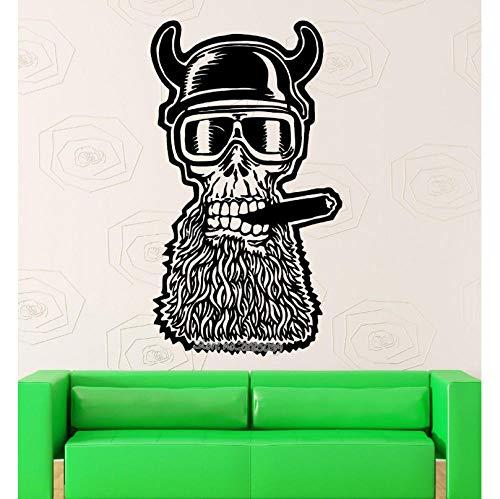 Adesivo da pareteDesign unico Skull Adesivo Moto Casco Wall Sticker Vinyl Decalcomanie Arte Soggiorno Divano Sfondo Decor Wallpaper 40x69cm