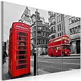 murando - Bilder 120x80 cm Vlies Leinwandbild 3 Teilig Kunstdruck modern Wandbilder XXL Wanddekoration Design Wand Bild - London 030217-1