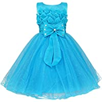 iiniim Bambina Bambini Pincess Lotus Flower (Costumi Birthday Party Dress)