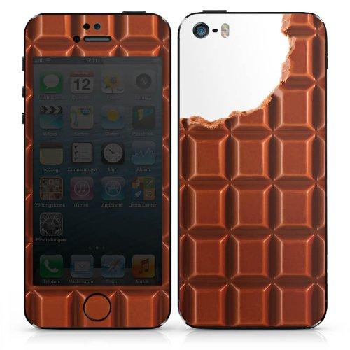 Apple iPhone SE Case Skin Sticker aus Vinyl-Folie Aufkleber Schokolade Chocolate Schoko DesignSkins® glänzend