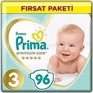 Prima Bebek Bezi Premium Care, 3 Beden, 90 Adet, Midi Fırsat Paketi