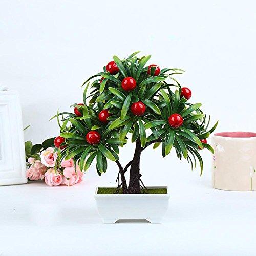 artificial Bonsái Bonsai sintético decorativo Artificial flor de la planta con Potted Decoración tabla sala estar afortunada Feng Shui Decorativa árboles floración , #4/27