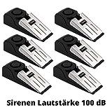 6 Stück Elektronischer Türstopper mit Alarm Sirenen-Lautstärke 100 dB