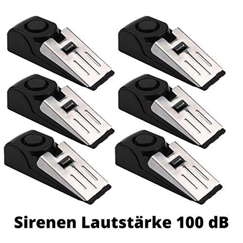 6 Stück Alarm-Türstopper rmit Erschütterungssenso Alarm Sirenen-Lautstärke 100 dB