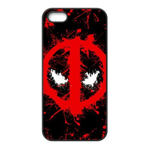 Coque Iphone 4/4S, Téléphone portable Coque pour iPhone 4S, Deadpool Super Hero Comics Design caoutchouc durable silicone Composition Case Cover For iPhone 4 4S