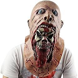 Máscara Látex, Supmaker Payaso Horrible Adulto Asustadiza para Halloween Fiesta Decoración