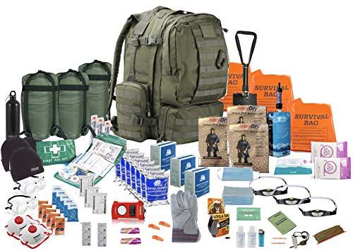 TSK Medical Ltd DREI Person - Überlebensrucksack - Viking 60L- Notgepäck Fluchtrucksack (Olive)