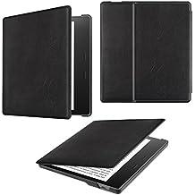Fintie Kindle Oasis 2017 Hülle - Die dünnste und leichteste Schutzhülle Tasche mit auto Sleep / Wake für Amazon Kindle Oasis (9. Generation - 2017 Modell), Schwarz