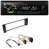 Pioneer MVH-S100UBG USB MP3 1DIN Aux Autoradio für Audi A4 (B6, 00-04) - ISO