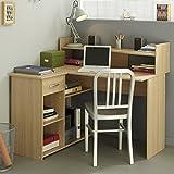 Eckschreibtisch Eiche-Baltimore grau B 121 cm Holz Computertisch Kinderschreibtisch Jugendschreibtisch Kinderzimmer Jugendzimmer