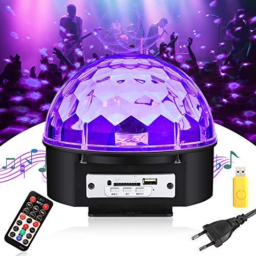 UV Beleuchtung Discokugel SOLMORE UV LED Schwarzlicht Magic Ball Bühnenlicht UV LED Lichteffekte Disco Beleuchtung Partylicht Partybeleuchtung...