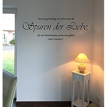 Wandtattoo-Wandaufkleber – Zitat v. Albert Schweitzer ***Spuren der Liebe*** – (Größen.- und Farbauswahl)
