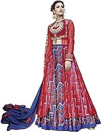 Vasu Saree Red Silk And Net Lehenga Style Suit(13031)