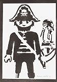 Playmobil Click Pirata Hecho A Mano - Handmade Street Art Poster
