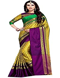 Rajeshwar Fashion Women's Saree With Unstitched Blouse Piece