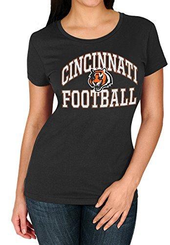 Cincinnati Bengals NFL Damen Franchise Fit T-Shirt, Jungen Herren Mädchen unisex damen, schwarz