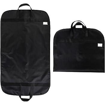 Ounona Garment bag borsa per abiti Gusseted Dress Bags Storage leggero  bagaglio a mano viaggio (nero) 4064b67e1da