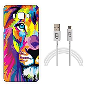Designer Hard Back Case for Samsung Galaxy J5-6 (New 2016 Edition) with 1.5m Micro USB Cable