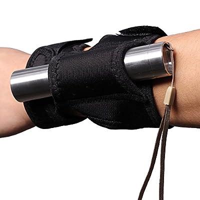 Airsson taktischer Fackel-Taschenlampholster-Halter-Beutel-Arm-Handgelenk-Taschenlampen-Tauchen-Jagd-Beutel für ?0.9-1.2 Fackel wie UltraFire 501 502 c1 c8 surefire G / P / E