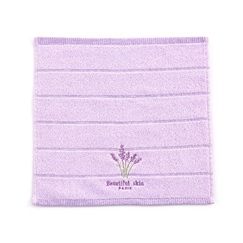 MF Handtuch aus 100% Baumwolle, saugfähig, weich, mit Lavendel-Stickerei, ideal für Aromatherapie, 34 x 74 cm, 100 % Baumwolle, violett, 34x34cm - Geschirrtücher Lavendel
