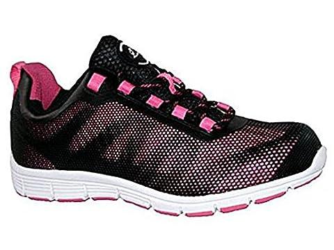 Groundwork , Damen sportliche Sicherheitsschuhe , mehrfarbig - pink/schwarz - Größe: 40 (Resistant Steel Toe Schuhe)