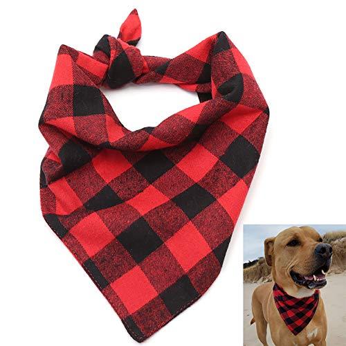 Pinacis Haustier Halstuch Einstellbare Hunde Katze Bandana Plaid Hundehalstuch Halsband Lätzchen Dreieck Kopftuch Zubehör Halstuch