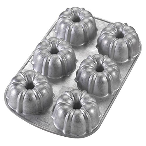Nordic Ware Commercial Original Bundt Muffin Pan with Premium Non-Stick Coating, 6-Cavity by Nordic Ware Original Bundt Pan