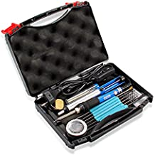 Kit del soldador, Dr.meter 18 en 1 220V 60W con Caja de herramientas Si-15, 5 PCS Puntas diferentes temperatura ajustable con interruptor On / Off