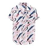 LEEDY Boutons De Chemises pour Hommes Imprimés Hawaii HawaïEn LâChe Beachwear...