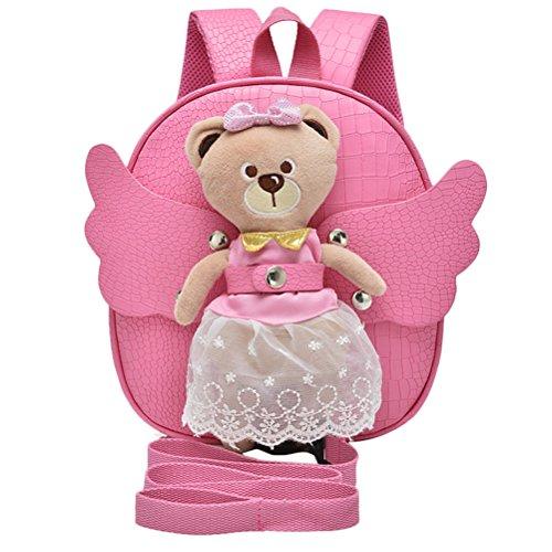 Zhuhaitf Children's Angel Bear Backpack Kindergarten School Bags Travel Bag Funny Kindertaschen for Kids