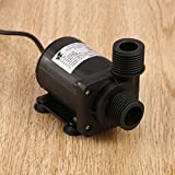 Dailyinshop DC 24V 3.8M magnetische Elektrische zentrifugale Wasserpumpe Hotsell für Aquarium (Farbe: Schwarz)