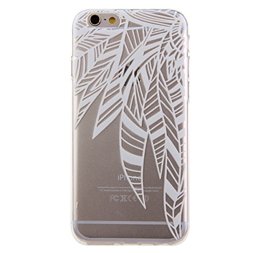SainCat Coque Housse Apple iPhone 6/6s,Transparent Coque Silicone Etui Housse,iPhone 6/6s Silicone Case Soft Gel Cover Anti-Scratch Transparent Case TPU Cover,Fonction Support Protection Complète Magn fleur #1