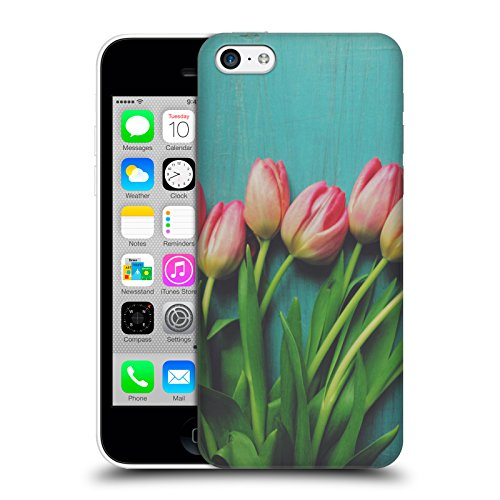 ufficiale-olivia-joy-stclaire-tulipani-rosa-sul-tavolo-cover-retro-rigida-per-apple-iphone-5c