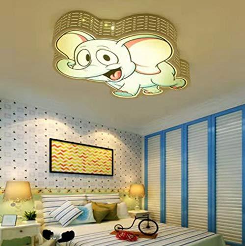 W&HH Lámpara de Techo LED Elefante de Hierro para niños Habitación en el Dormitorio Lámpara de Techo Lámpara de guardería Niño y niña creativos Luminaria de Dibujos Animados para niños
