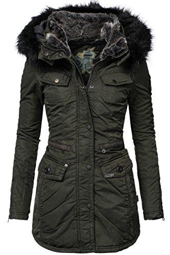 Khujo chi cappotto invernale da donna verde M
