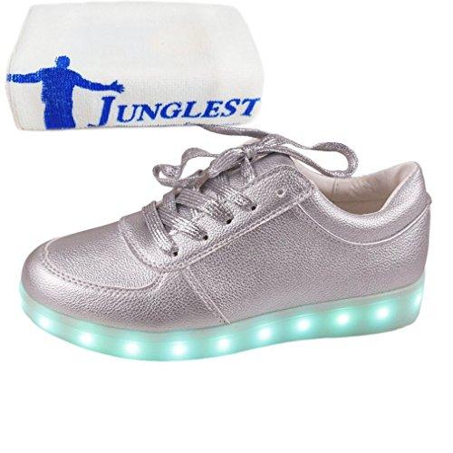 [Present:kleines Handtuch]JUNGLEST® Unisex Frauen Männer USB Lade LED leuchten Glow Schuhe Luminous American Star Flagge Freizeitschuhe c29