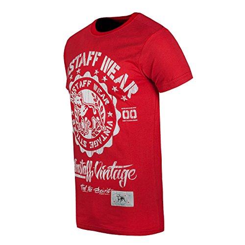 Amstaff Vintage Dorano T-Shirt Rot