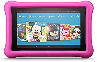 Fire HD 8 Kids Edition-Tablet, 20,3 cm (8 Zoll) HD Display, 32 GB, pinke kindgerechte Hülle