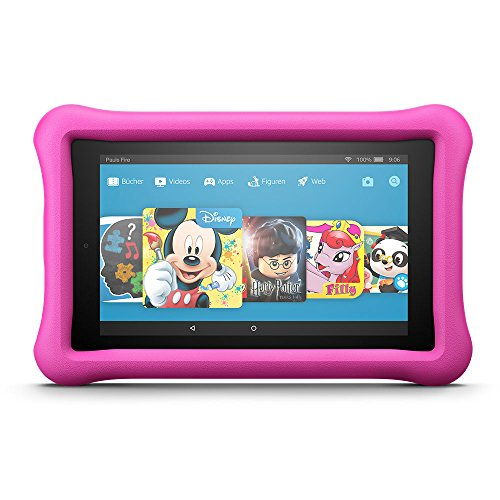 Fire 7 Kids Edition-Tablet, 17,7 cm (7 Zoll) Display, 16 GB, pinke kindgerechte Hülle