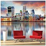 azutura London Sonnenuntergang Fototapete Stadt Skyline Tapete Schlafzimmer Büro Wohnkultur Erhältlich in 8 Größen Klein Digital